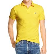 Envio Imediato Em 24 Hs.  Camisa Polo Masculino Amarelo H