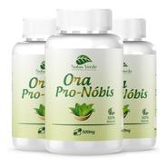 Kit 3 Ora Pro Nobis 500mg 180 Cápsulas Vitaminas B1 B2 B3