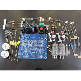 Kit P/ Montagem Pré Amplificador Stereo Valvulado Com Caixa