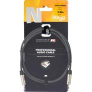 Cable Armado 3mts Stagg Miniplug A Miniplug Nac3mpsr Oferta!