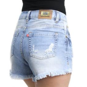 Short Jeans Rasgado Cós Médio Revanche
