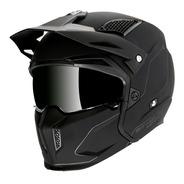Casco Mt Helmets Streetfighter Negro Mate + Mica De Regalo
