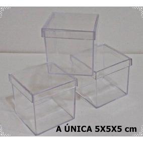 50 Caixinhas De Acrilíco 5x5 Cristal R$ 25,00