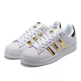 Zapatillas Superstar Blanca/dorada Hombre Mujer Retire Hoy