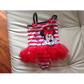 Vestido De Baño Niña Minnie Mouse Tutu 3-4 Años