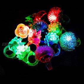 10 Anillos Luminosos De Goma Con Luz Led Batucada Bodas M30