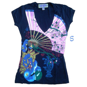 Ed Hardy By Christian Audigier Remeras De Mujer Talle S.