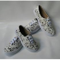 Combo Mama Hija Dama Niña Calzado Snoopy Blanco Envío Gratis