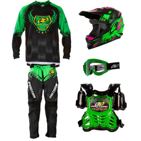 Kit Roupa Criança Motocross Trilha 5 Itens Infantil Insane 5