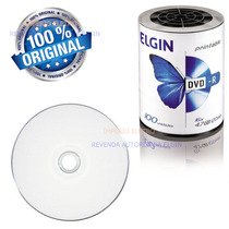 100 Dvd-r Imprimivel 4,7gb 16x 120min Printable Elgin