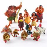 Kit 12 Bonecos Moana Brinquedo Infantil Filme Decorar Festa