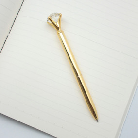 Bolígrafo Lapicera Diamante Oro Escritorio Morph