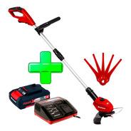Bordeadora Inalambrica Einhell + Cuchillas + Kit Bateria 2 Amper + Cargador