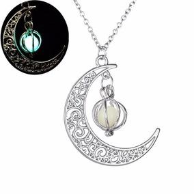 Collar Brilla En La Oscuridad Luna Calabaza