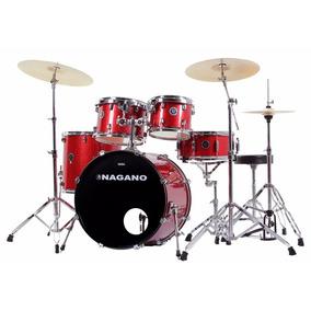 Bateria Acústica Nagano Garage Rock 22 Vermelha Riff Music