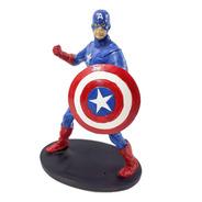 Personagem Filme Capitão America Pequeno C/ Escudo Em Resina