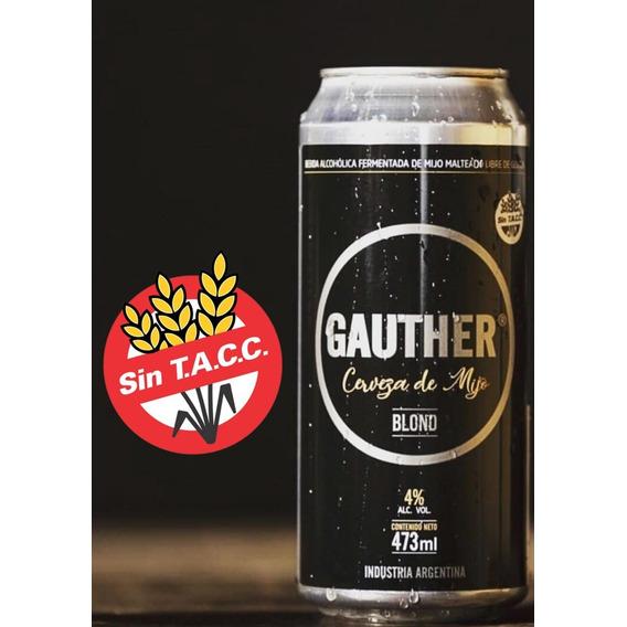 Cerveza Sin Tacc Gauther Libre De Gluten Pack X 10 Latas