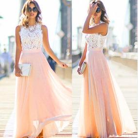 Vestido Longo Rosa Formatura Casamento Festa Baile Barato