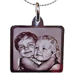 Foto Medalla Acero Quirúrgico 20x22mm + Cadena 40/45/50cm