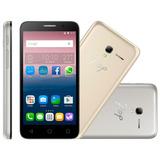 Celular Alcatel Ot-5016j Duos 5 8gb 3g 8mp + Capa Dourada
