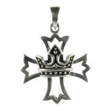 Pingente De Prata Cruz De Malta Coroa Berkat Ref 21431