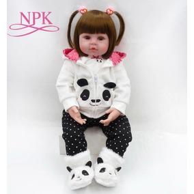 Boneca Reborn Realista Bebê 50cm Menina Brindes Juju