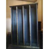 Mueble Porta Cd Con Capacidad De 240 Unidades, Madera Maciza