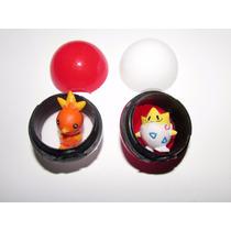 5 Pokebolas + 5 Pokemons Lembrancinha De Festa Ou Coleção