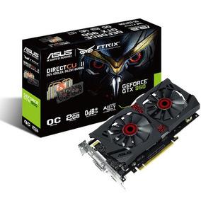 Placa Video Asus Geforce Strix Gtx 950 Ddr5 2gb Hdmi Gamer *