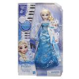 Muñeca Articulada Frozen Elsa Piano Musical Disney Hasbro Tv