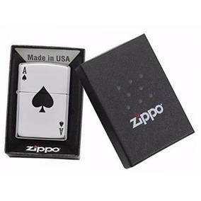 Encendedor Zippo As De Pica Grabado! En Caja Original