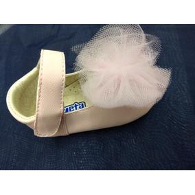Zapato De Niña Bebe Color Rosa / Beige 10-11