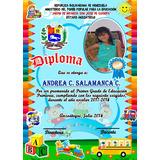 Diseño De Diplomas Preescolar, Reconocimientos, Entre Otros