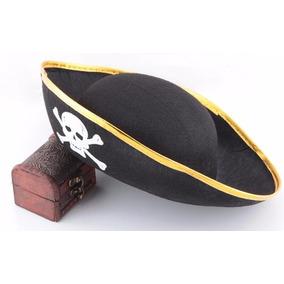 Sombrero Pirata Gorro Tipo Bucanero Con Calavera
