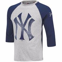 Sudadera Majestic Ny Yankees Big Mfadqio-ny Gris Marino Pv