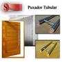Puxador Duplo Alumínio Polido 80cm X 60cm Porta Madeira/vidr