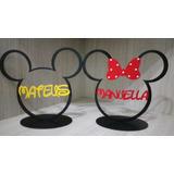 Enfeite Topo De Bolo Mickey Ou Minnie Personalizado Com Nome