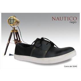 Zapatillas Panchas Nauticas 100% Cuero