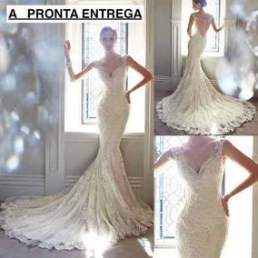 Vestido De Noiva Sereia Luxuoso A Pronta Entrega
