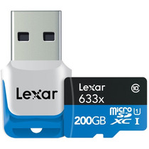 Lexar 200gb High 95mb/s 633x Micro Sd Microsd Memoria 4k