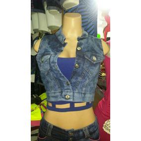Chalecos Bellos De Damas Jeans A La Moda Tallas S M L Y Xl