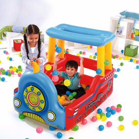 Juego Tren Inflable Pelotero Pileta Bestway 52121 C/pelotas