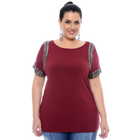 Blusa Malha Viscolycra Plus Size Tamanho Grande 60