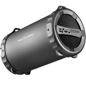 Caixa De Som Bluetooth/fm/sd/usb/p2 20rms Sp233 Multilaser