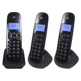Telefone Sem Fio Motorola 700-mrd3 Preto Dect 6.0 + 2 Ramais