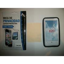 Kit 3x1 Silicon+ Mica Privacidad+ Paño Nokia 620 Lumia!!!
