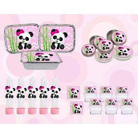 Kit Festa Infantil Panda Menina 60 Peças