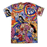 Kit 7 Camisetas Personalizas Hora De Aventura Adventure Time