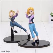 Figuras Androide 18. 15 Y 17 Cm. Dragon Ball Z. Envio Gratis
