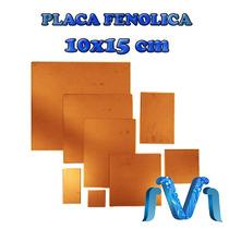 Placa Fenolica Pcb Baquelita Para Circuitos 1 Cara 10x15 Cm
